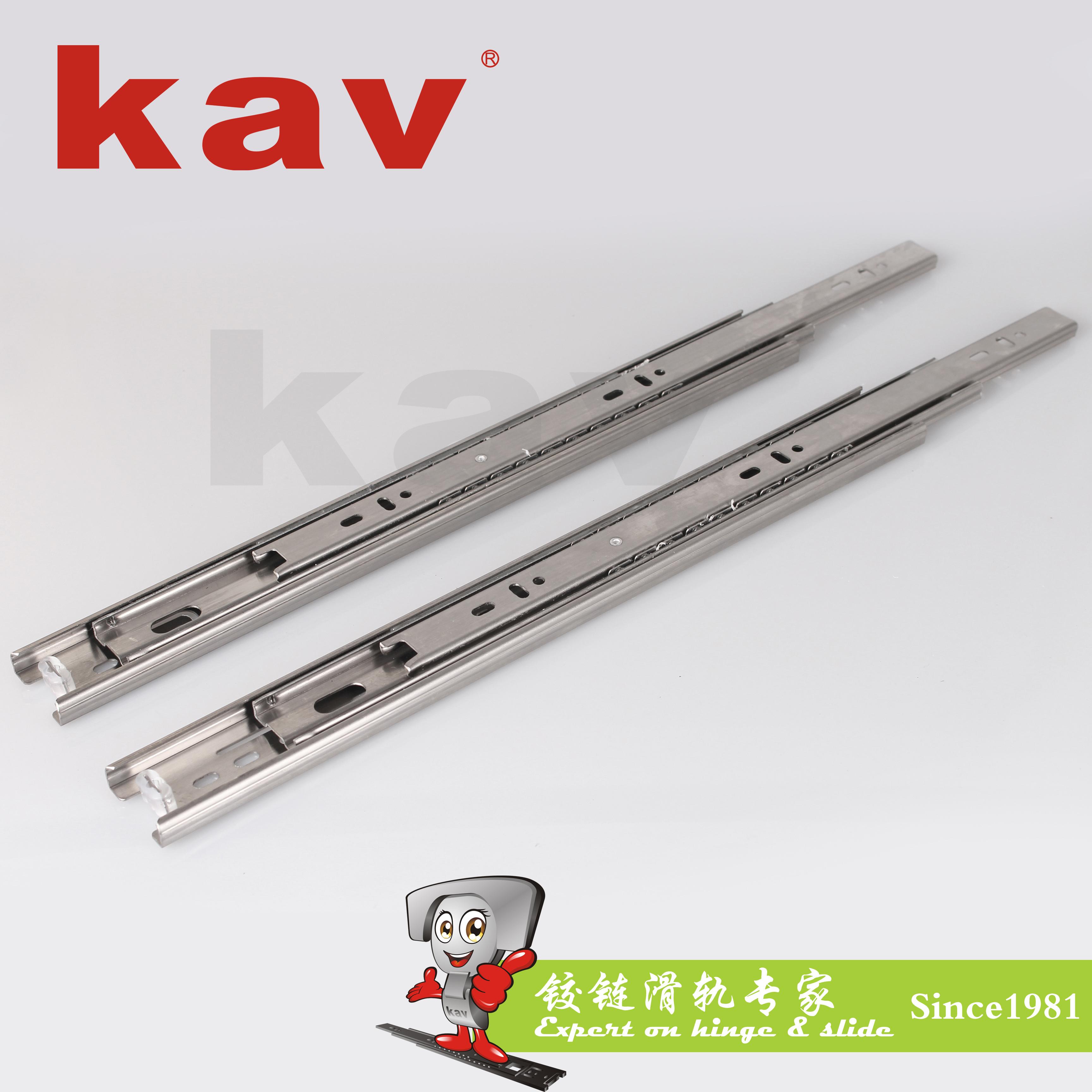 38mm宽三节不锈钢滑轨【不锈钢抽屉滑道】 B380-5