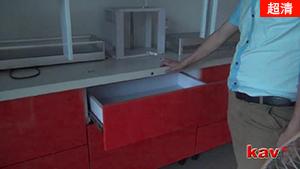 感应式电动抽屉滑轨的效果展示