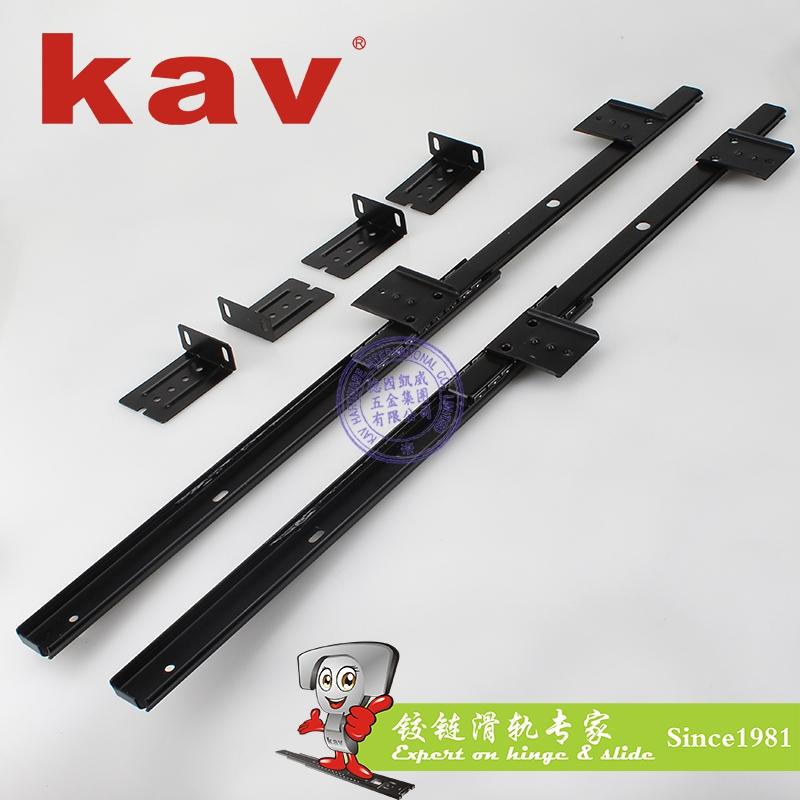 kav27mm宽二节键盘滑轨电脑桌轨道TJ27210