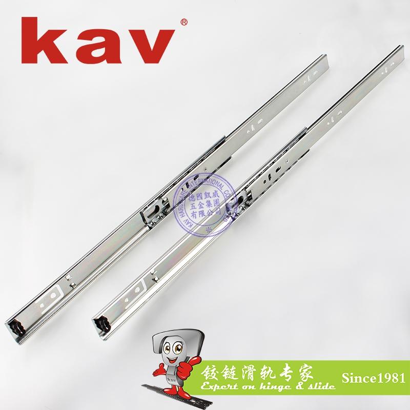 kav27mm宽二节钢珠滑轨抽屉导轨C27212