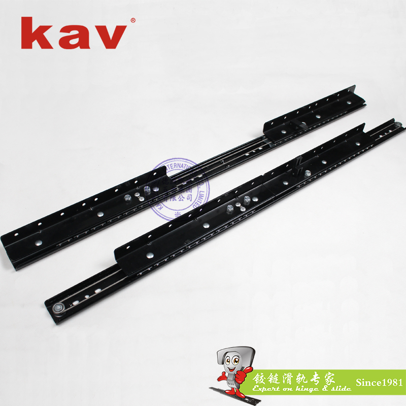 kav35mm宽二节双向餐桌滑轨YC35218