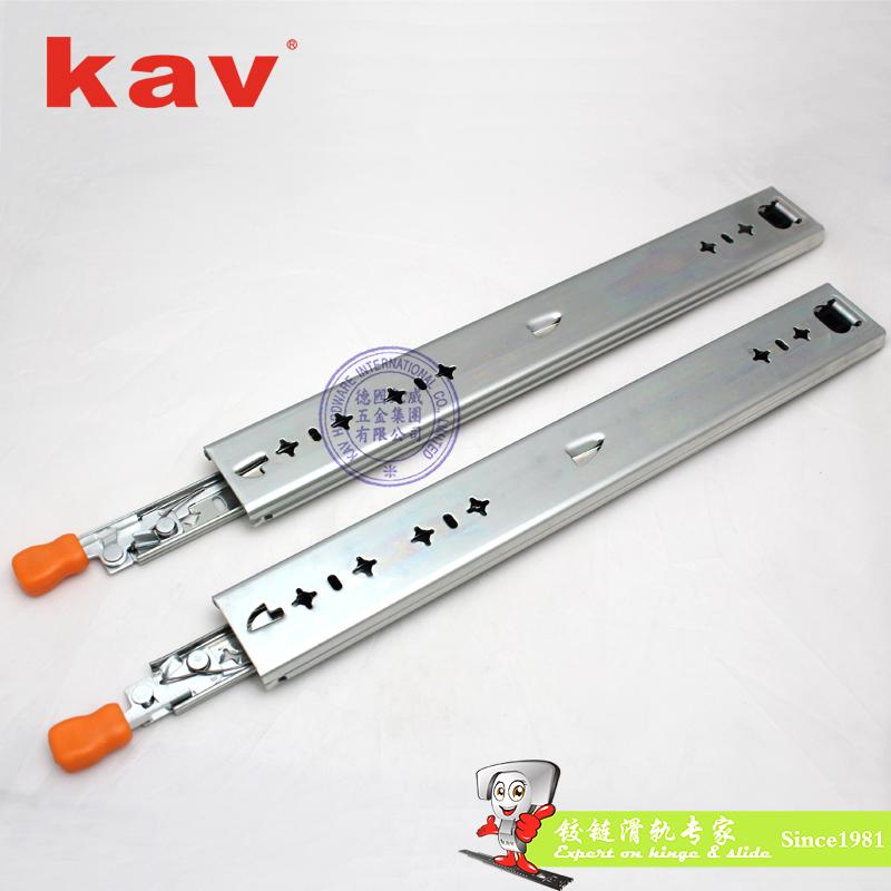 53mm宽三节重型钢珠滑轨【工业导轨】 带锁 CL530