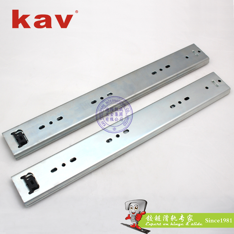 53mm宽三节重型钢珠滑轨【三节重型工业导轨】 A530-3