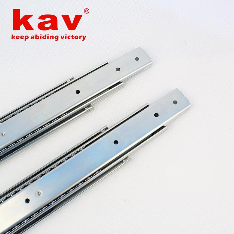 58mm宽三节重型钢珠导轨【三折重型钢珠滑轨】 A580