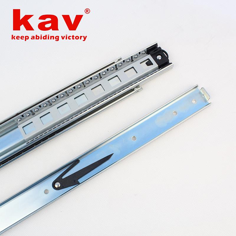 58mm宽三节重型钢珠导轨【三折重型钢珠滑轨】 A580-1