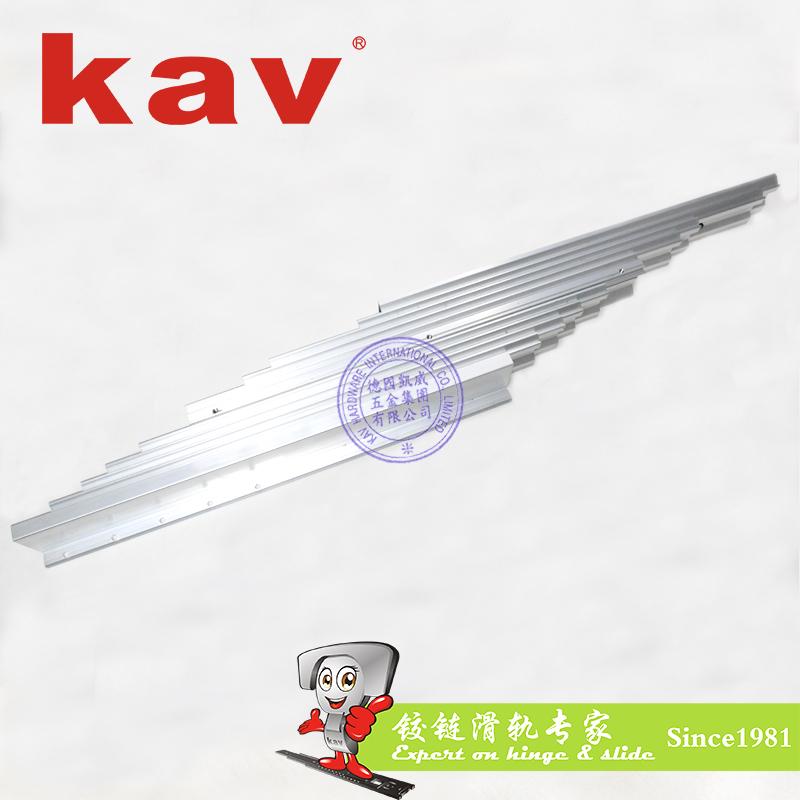 12节铝质餐台滑轨【多节伸缩餐桌轨道】东莞餐桌滑轨生产厂家 YC3512-A