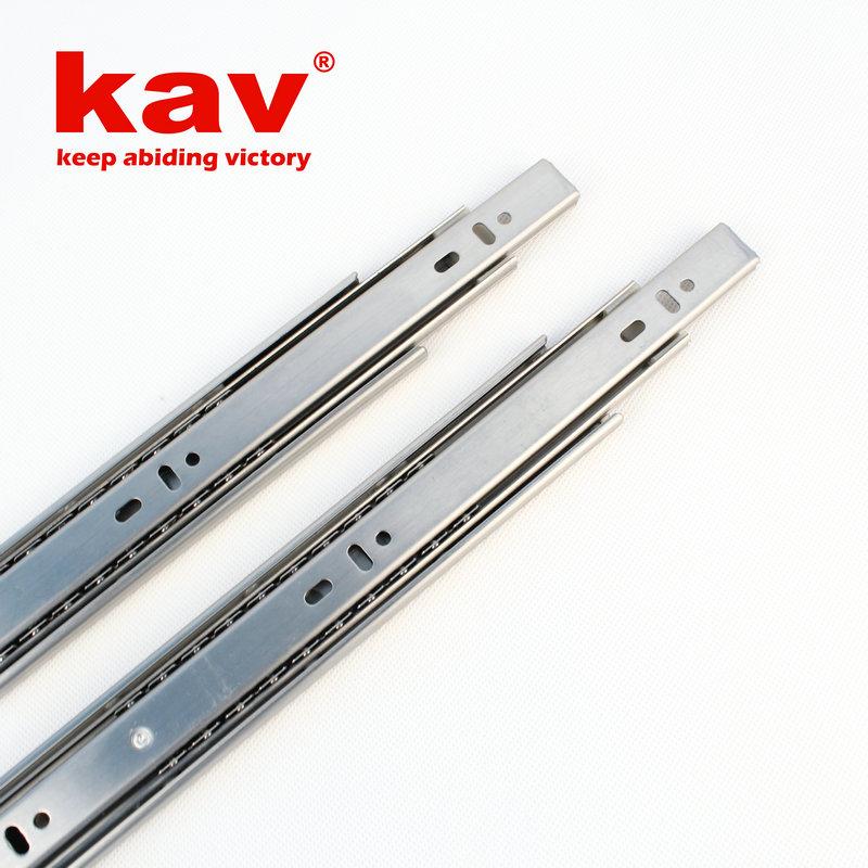 35mm宽三节不锈钢滑轨【不锈钢抽屉轨道】 B350
