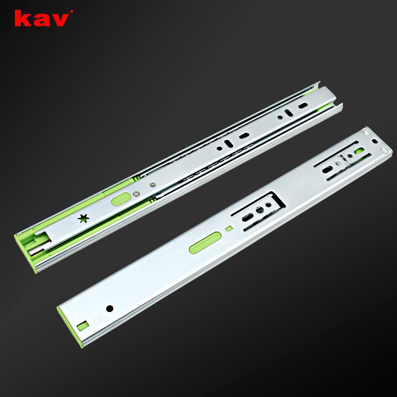 kav35宽橱柜液压三节缓冲轨道抽屉滑轨35310H